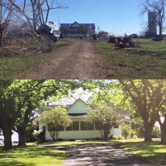 Ocheesee Creamery farmhouse before and after