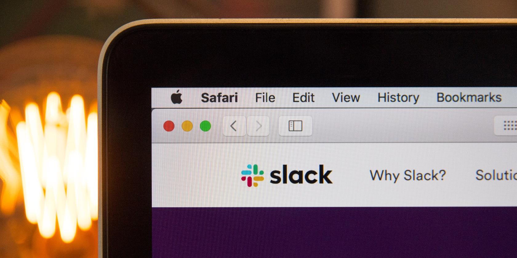 Screenshot of Slack in Safari