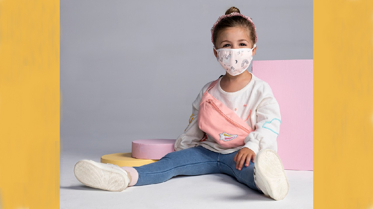 reusable cloth masks for kids with fanny pack kit