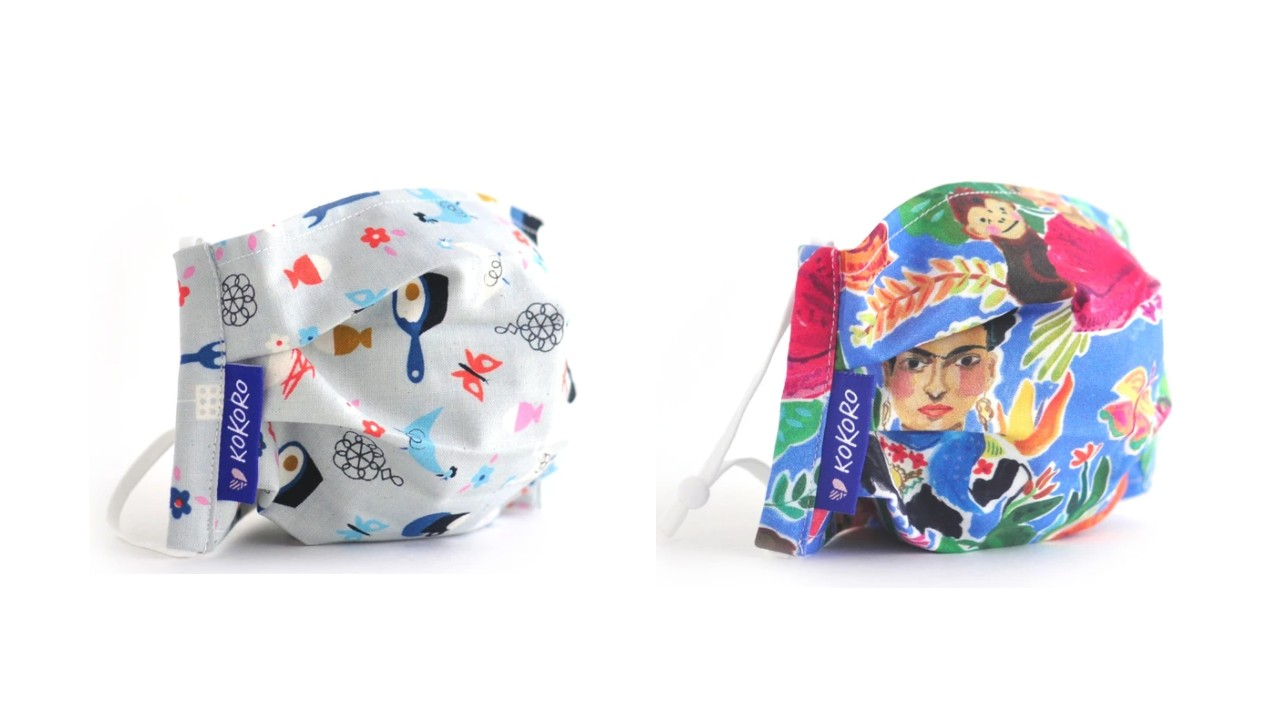 colourful printed face masks for kids