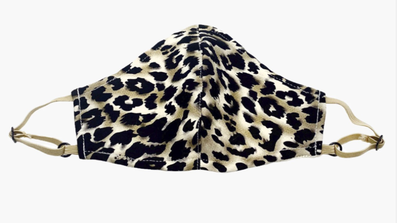 leopard print kids face mask