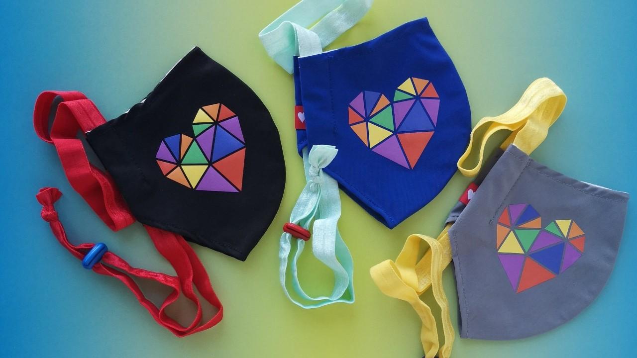 colour kids face masks