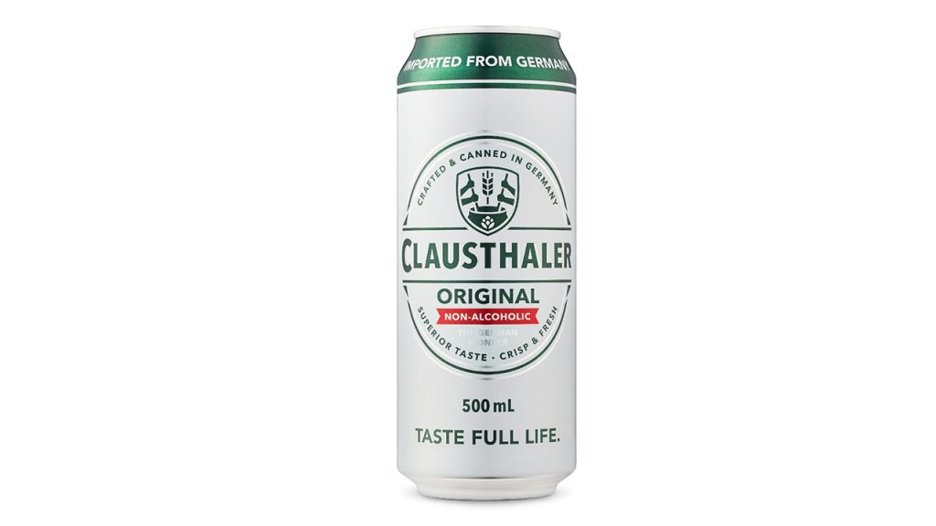 Can of Clausthaler non-alcoholic beer