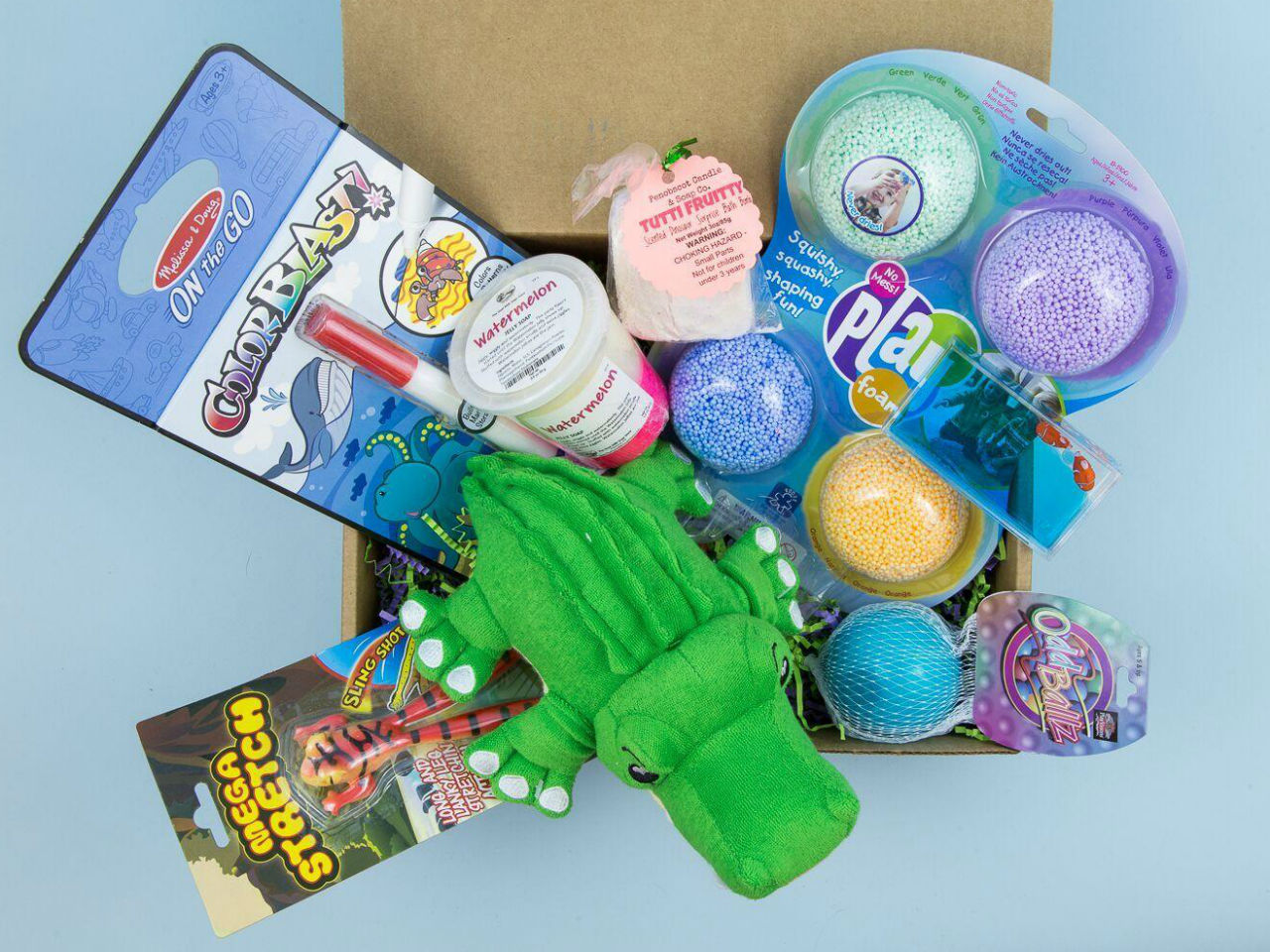 subscription box for kids of sensory toys