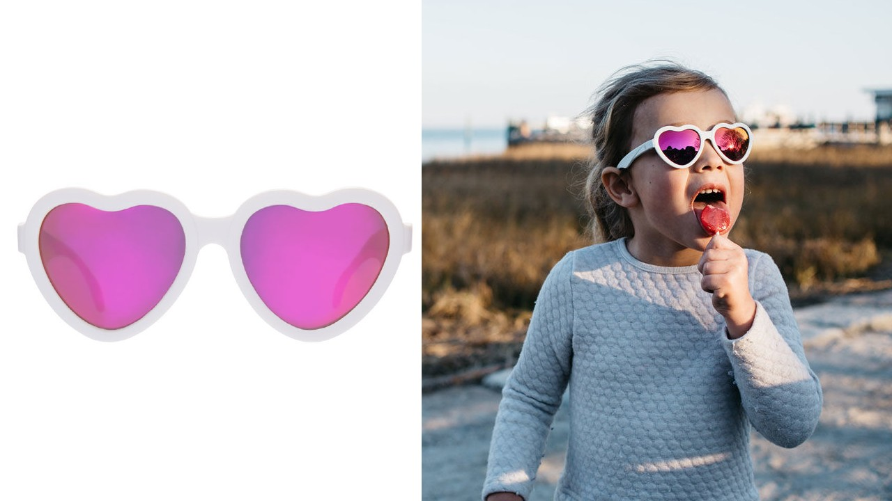 heart-shaped kids sunglasses