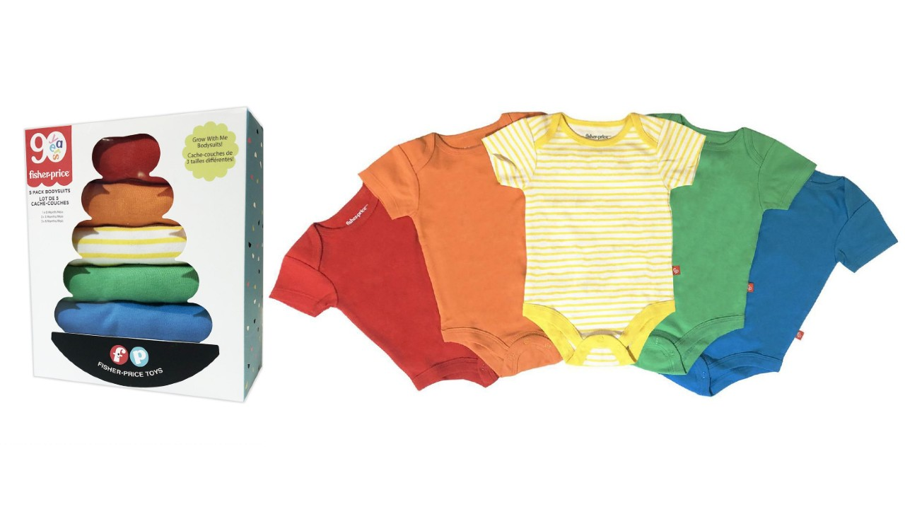 gift pack of colourful onesies for baby
