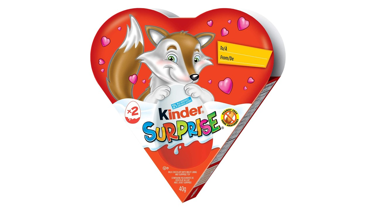 heart-shaped kinder surprise treat