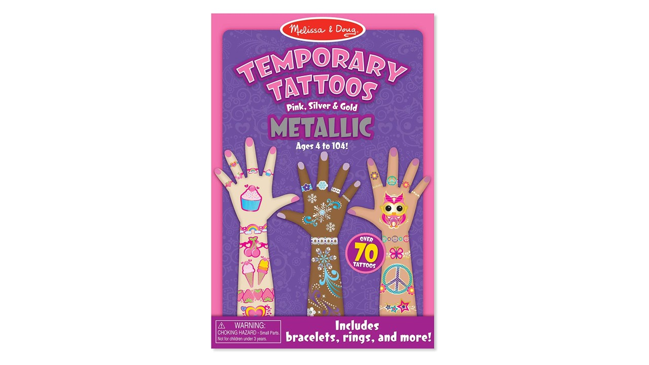 box of metallic temporary tattoos