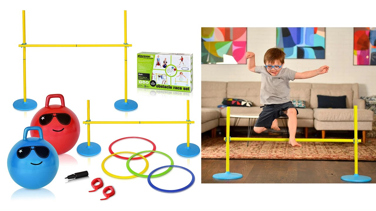 obstacle course setup kit for kids