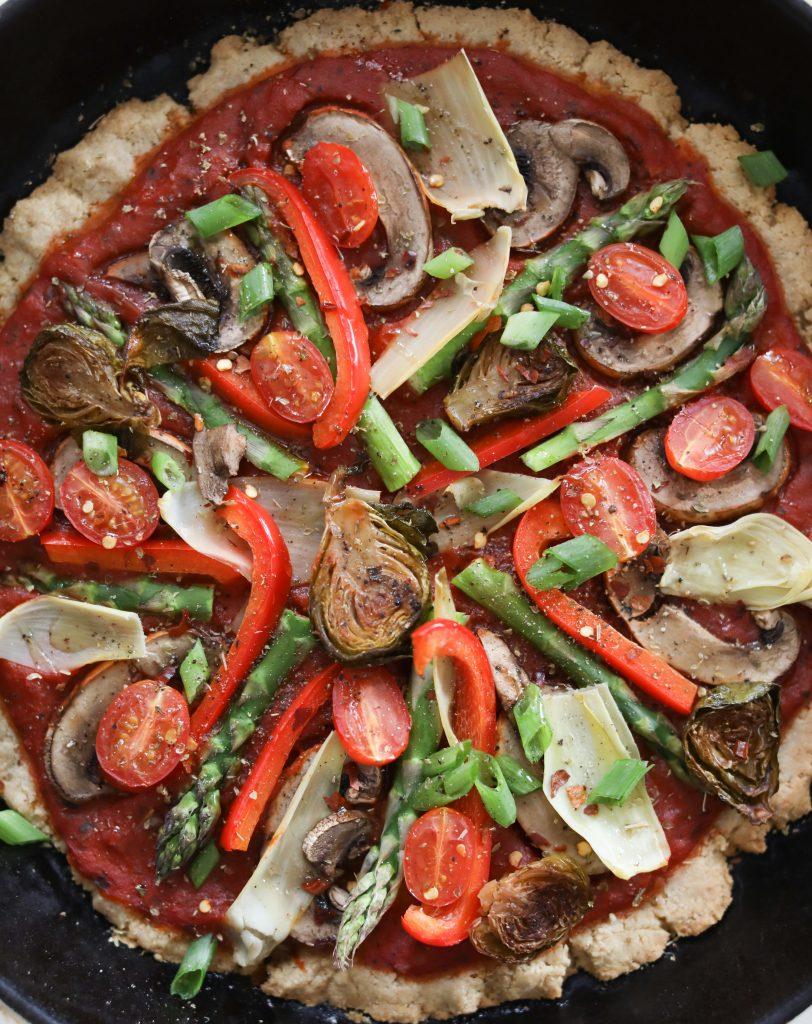 Healthy Gluten-Free Veggie Pizza | Nutrition Stripped
